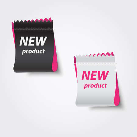 New product labels. Vector