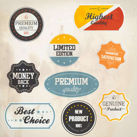 Set of retro badge and labels Stock Vector - 15688610