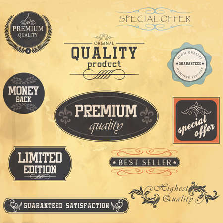 Premium Quality and Guarantee Labels Stock Vector - 15844770