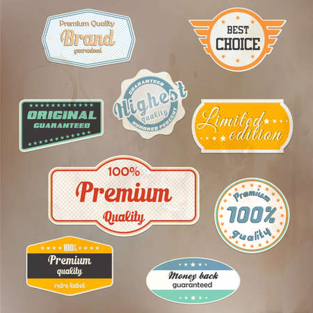 best price: Set of retro badge and labels