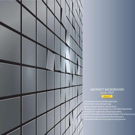 футуристический: абстрактный фон из кубов. Вектор