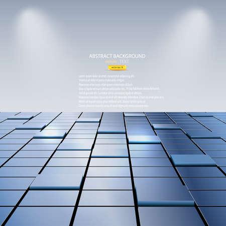 Fondo abstracto de cubos. Vector