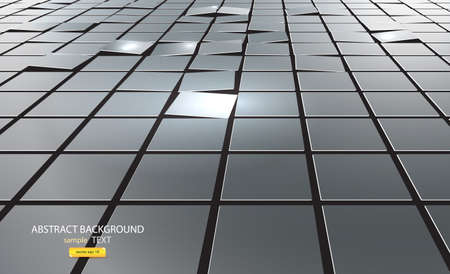corporate buildings: abstract background of cubes. Vector