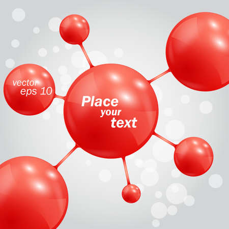 Abstract background with molecules spheres Vector