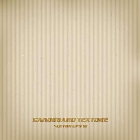 corrugated cardboard: Cardboard texture. Vector Illustration