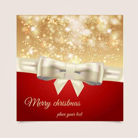 happy holidays: Kerst achtergrond met plaats voor tekst. Vector Stock Illustratie