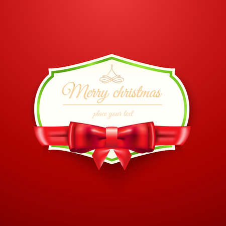 Christmas background with place for text. Vector Vector