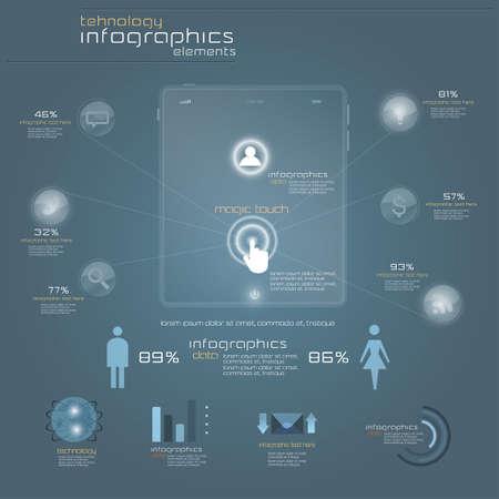 Infograf�a Dise�o Moderno plantilla. Vector Vectores