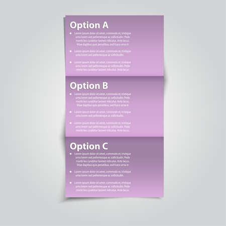 Set of Vector Sample option folding paper. Stock Vector - 16401697