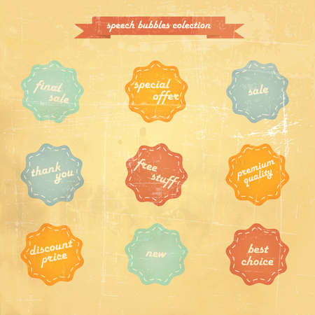 Retro speech bubbles. Vector Stock Vector - 16401728