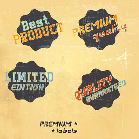 Premium Quality and Guarantee Labels. Vector Stock Vector - 16401730