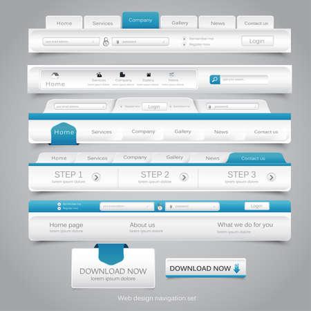Web design navigatie in te stellen.