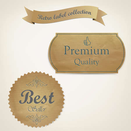 Retro styled old papers Labels . Vector Stock Vector - 16585005