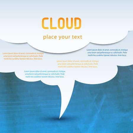 stock agency: concetto di cloud computing Vettoriali