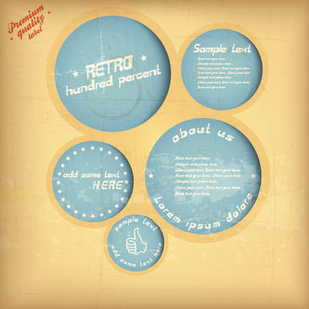 Retro website template. Vector