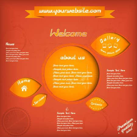 sidebar: Retro website template.