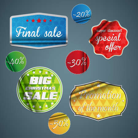 Stickers and Badges collection. Stock Vector - 16826870