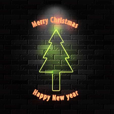twenty thirteen: Happy New 2013 neon sign.  Illustration