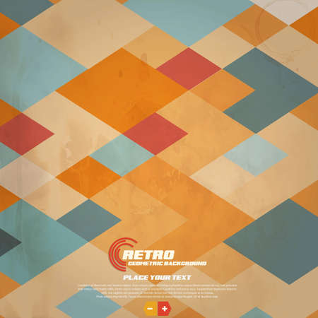 Retro Geometric Background.  Stock Vector - 16826876