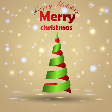 Christmas card design.  Stock Vector - 16826880