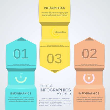 Minimal infographics. Vector Stock Vector - 16933597