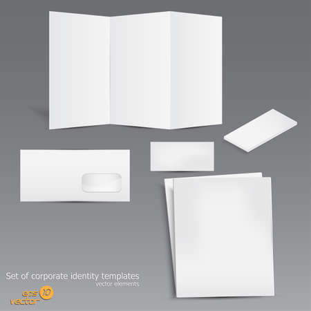 Set of corporate identity templates. Vector Vector