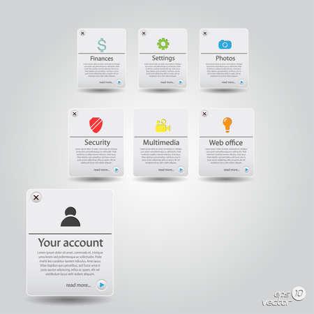 Template.Buttons sitio web creado con iconos.