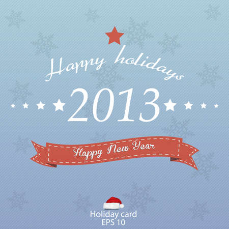 New 2013 year greeting card retro style. Vector Vector