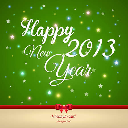Happy New Year greeting card. Vector Stock Vector - 17123691