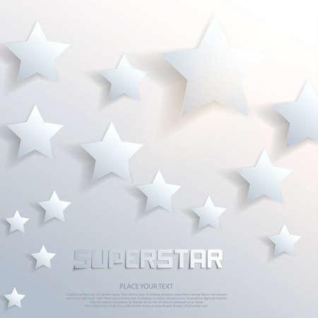 superstar: Abstract superstar background. Vector Illustration