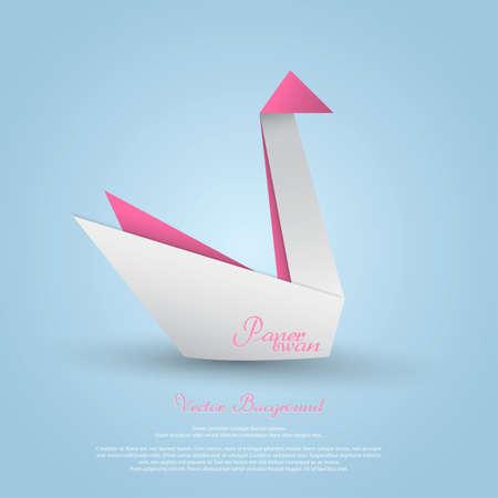Origami swan.Vector Vector