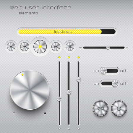 Web user interface design elements.  Vector