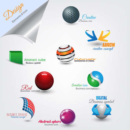 Set of modern design elements.  Vector