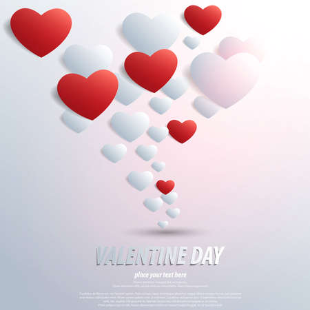 Valentines Day background with  heart shape. Stock Vector - 17538374