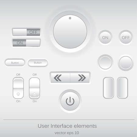 gatillo: Elementos de la interfaz de usuario Web de diseño. Vector