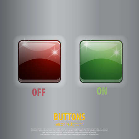 Switch on and off. Stock Vector - 17757692