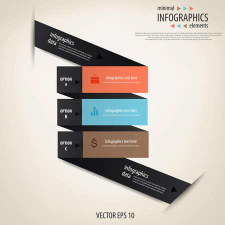 Minimal infographics  Vector Stock Vector - 17757697