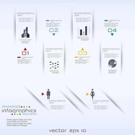phonographic: Minimal infographics  Vector