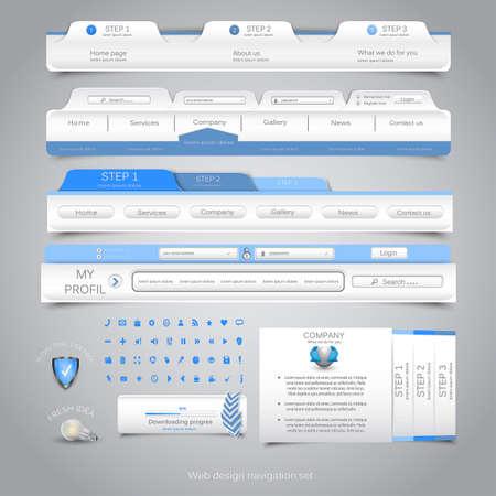 onglet: Web design de navigation d�finie. Illustration