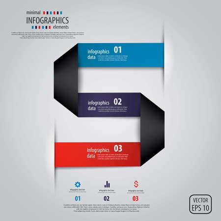 Minimal infographics design. Vector Stock Vector - 18004785