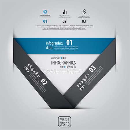 Minimal infographics. Vector Stock Vector - 18004788