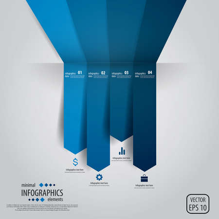 design elements: Minimal infographics. Vector