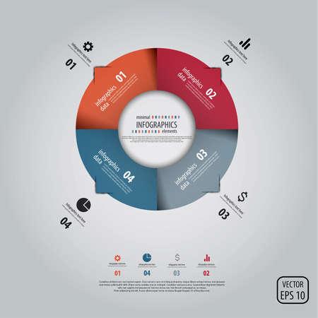graficos: Infograf�a de dise�o minimalista. Vectores