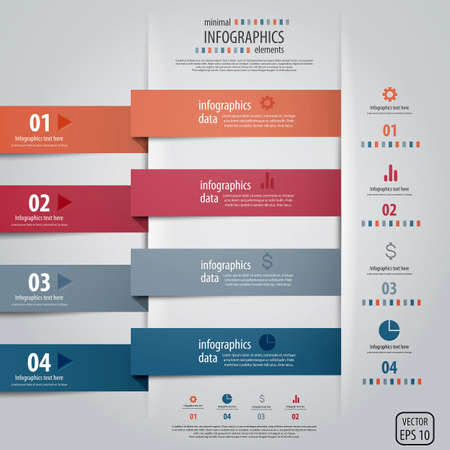 Infografía de diseño minimalista.