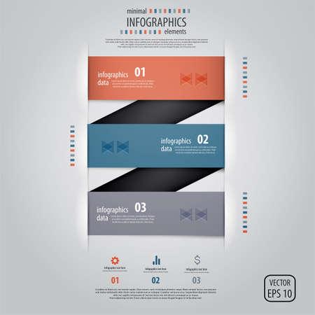 phonographic: Minimal infographics design.