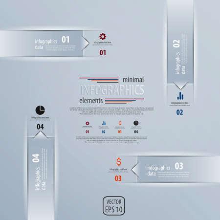 Infografía de diseño minimalista. Vector Ilustración de vector