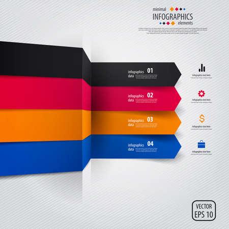 buttons web: Minimal infographics design. Vector