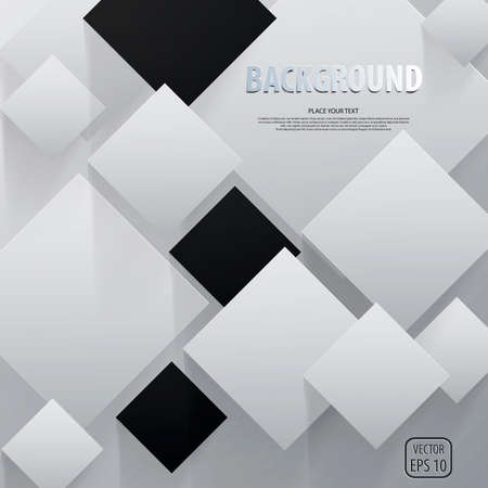 illusions: Background of cut paper- design template. Vector Illustration