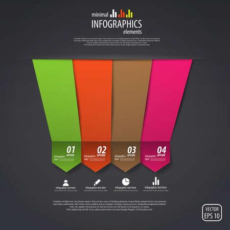 Minimal infographics design. Vector Vector