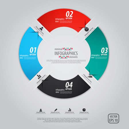 Infografía de diseño minimalista. Vector
